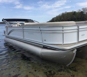 sport pontoon boat delivery